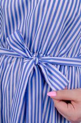 Кети. Красивый сарафан больших размеров. Голубая полоска.