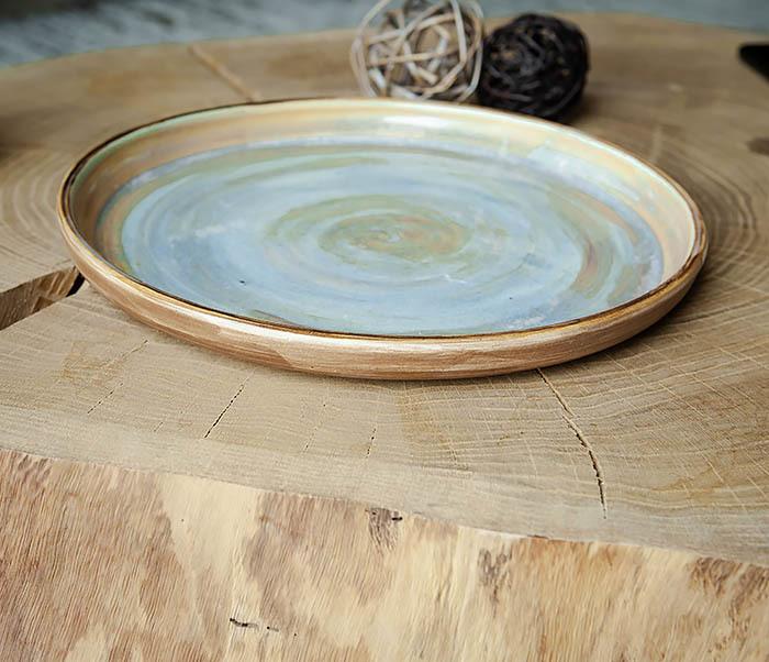 PLATE101 Керамический поднос ручной работы в глазури фото 02