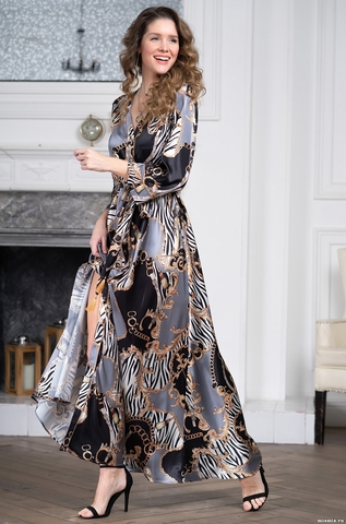 Длинный халат Mia-Amore 8725