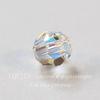 5000 Бусина - шарик с огранкой Сваровски Crystal AB 4 мм, 5 штук