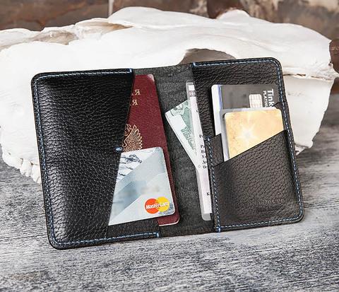 BC143-1 Мужская обложка для паспорта, документов и карточек из кожи