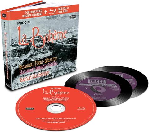Luciano Pavarotti, Mirella Freni, Herbert von Karajan / Puccini: La Boheme (2CD+Blu-ray Audio)