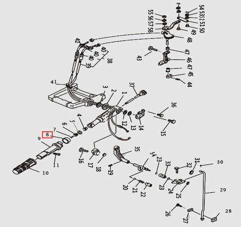 Индикатор газа для лодочного мотора T9.8 Sea-PRO (10-8)