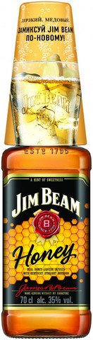 Напиток спиртной Джим Бим Хани 0,7л + 1ст