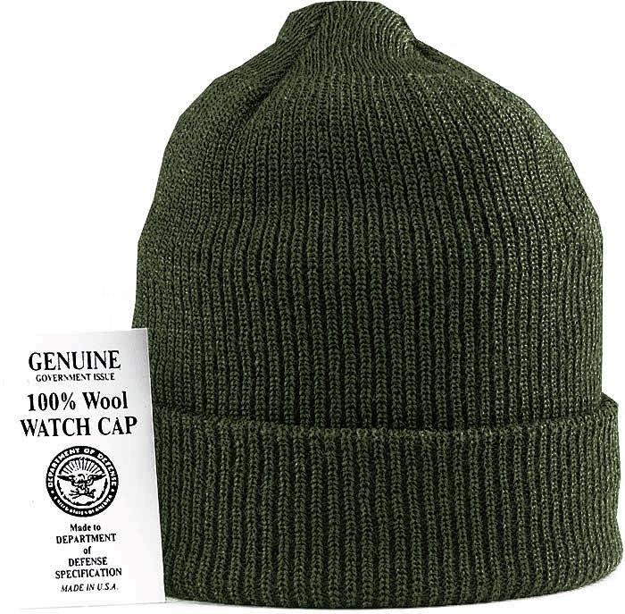 Шапка - Military Watch Cap Wool (оливковая)