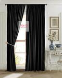 Готовая штора Ницца (чёрный)
