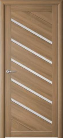 Дверь Фрегат ALBERO Сингапур-5 , стекло матовое, цвет кипарис янтарный, остекленная