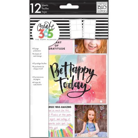 Набор файлов для ежедневников Create 365 Mini Planner Pocket Sheets Clear -12шт.