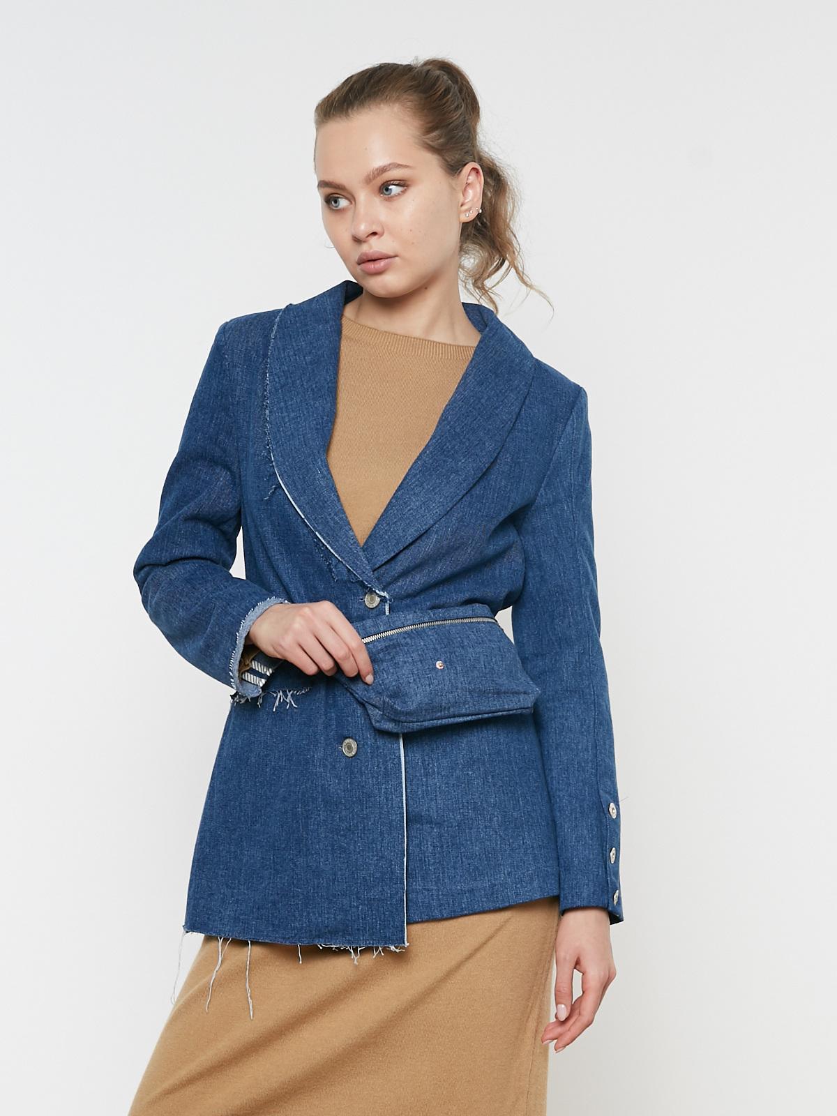 Жакет джинсовый асимметричный