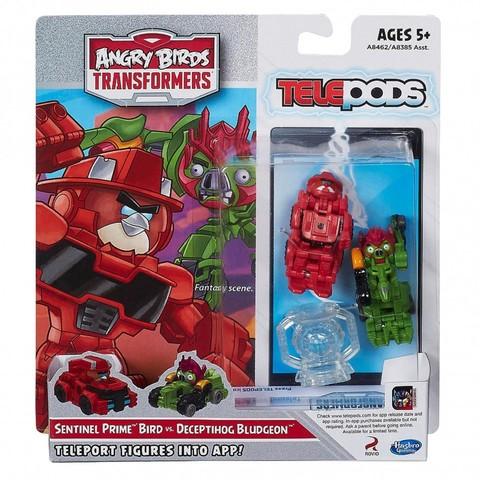 Набор 2 транформеров телепод Энгри Бердз - Transformers Telepods Sentinel Prime vs. Deceptihog Bludgeon, Hasbro