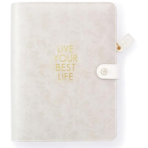 Планер с наполнением. Не датирован. Color Crush A5 Faux Leather Planner Kit   -LIVE YOUR BEST LIFE
