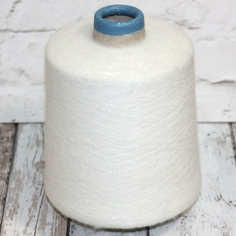 Вспушенная бэби альпака SESIA / PERUVIANFINE  3000 белый молочный