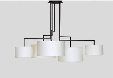 Chandelier Noon 5 by Zeitraum (white)