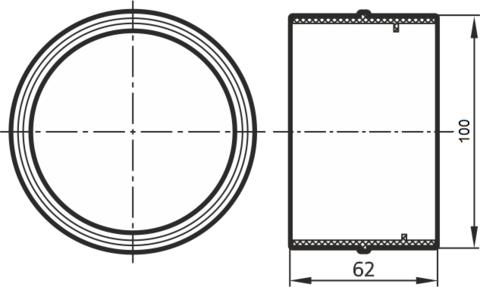 Соединитель- муфта 100 мм
