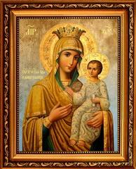 Избавительница. Икона Богородицы на льняном холсте.