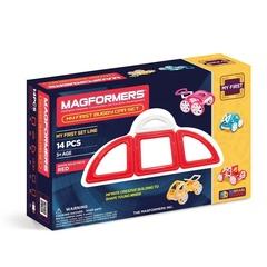 MAGFORMERS Магнитный конструктор Моя первая машинка, красный (63145)