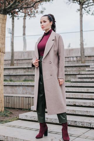 Пальто женское лаконичный_оверсайз