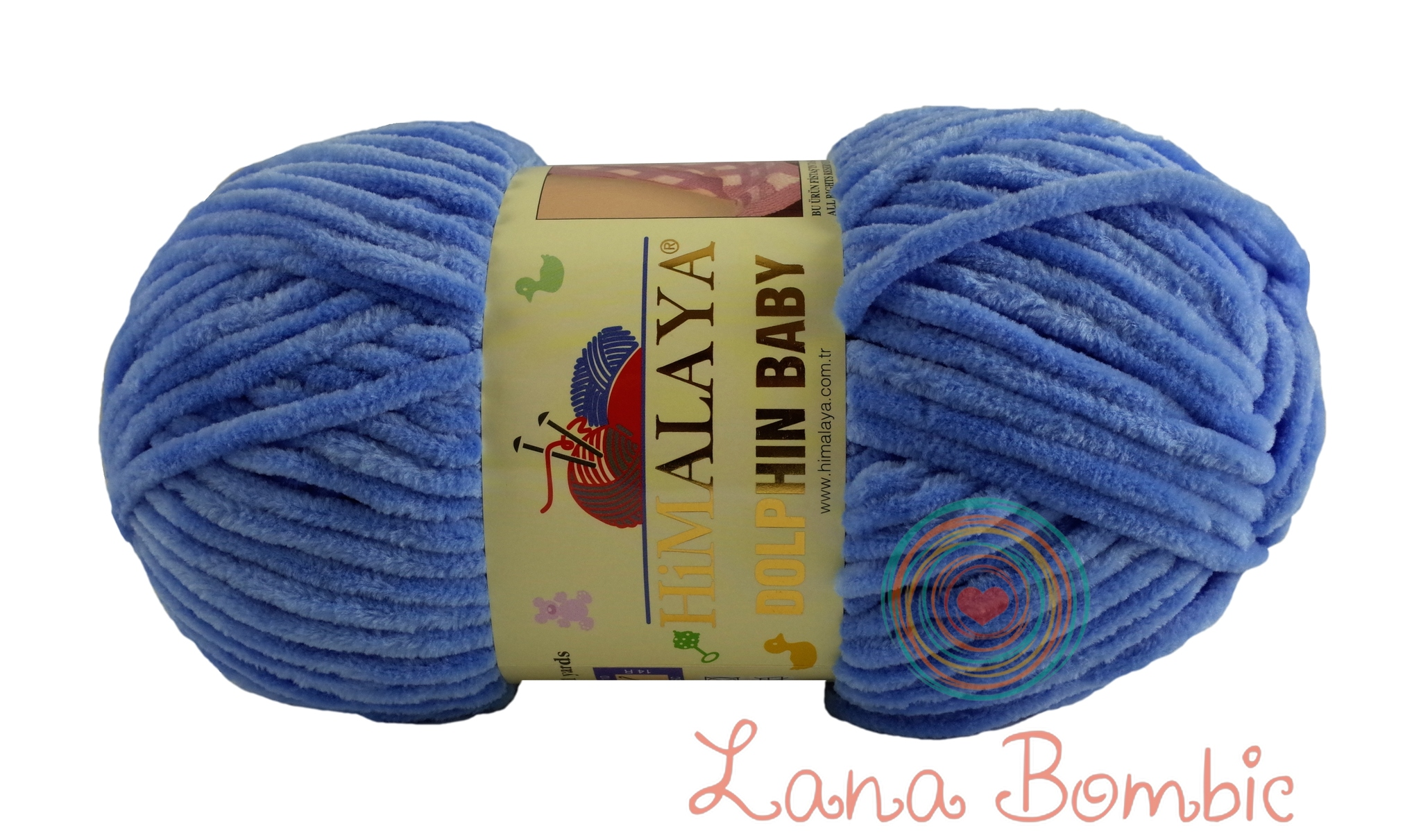 Пряжа Himalaya Dolphin Baby арт. 80327 ярко-голубой