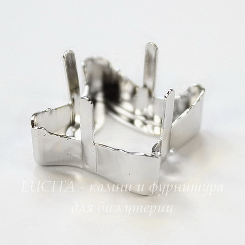 4485/S Сеттинг - основа для страза Twister 17 мм (цвет - античное серебро)