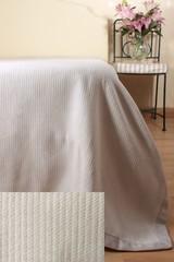 Плед-покрывало 220x240 Luxberry Лебяжий пух светло-серый