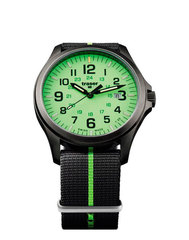 Швейцарские тактические часы Traser P67 OFFICER PRO  GUNMETAL  Lime 107429