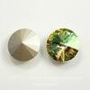 1122 Rivoli Ювелирные стразы Сваровски Crystal Luminous Green (12 мм)