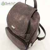 Сумка Саломея 502 змея металлик бронза (рюкзак)