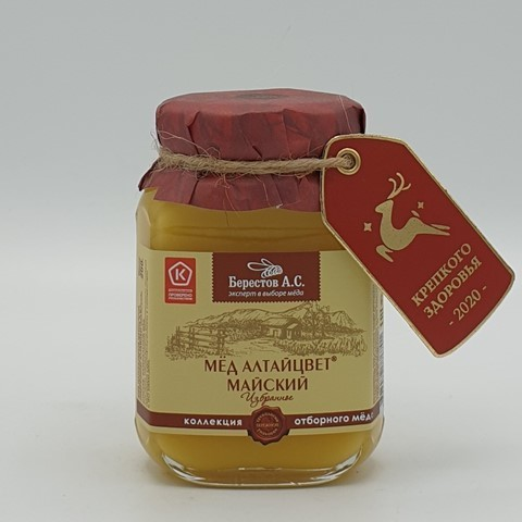 Мёд натуральный Алтайцвет Майский БЕРЕСТОВ А.С., 200 гр
