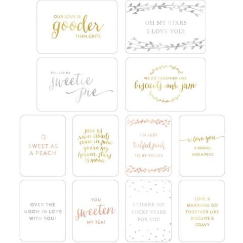 """Набор карточек """"Weddings"""" для Project life 12 шт"""