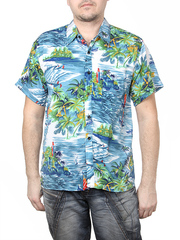 80160-9 рубашка мужская, цветная