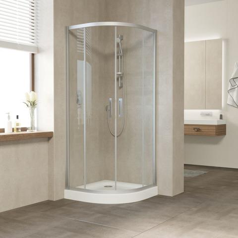 Душевой уголок Vegas Glass ZS профиль матовый хром, стекло прозрачное