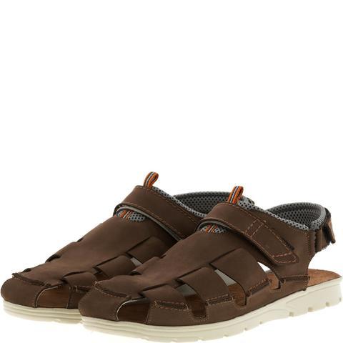 585285 сандалии мужские коричневые. КупиРазмер — обувь больших размеров марки Делфино