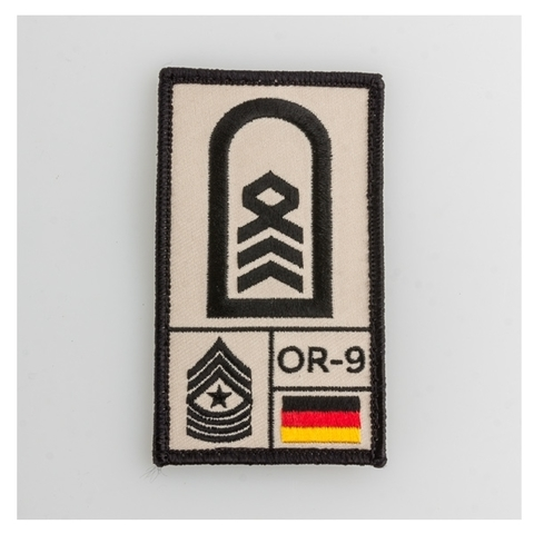 Café Viereck Rank Patch Oberstabsfeldwebel sand