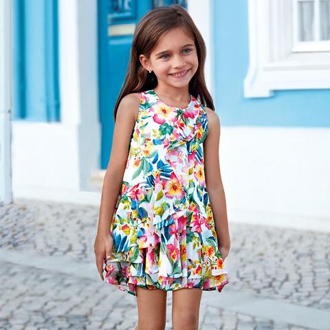 Платье Mayoral с тропическим узором