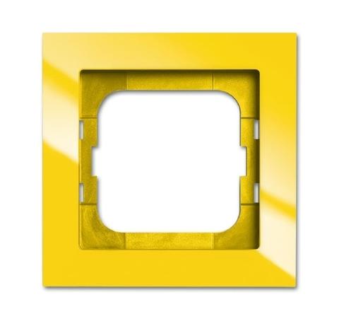 Рамка на 1 пост. Цвет Жёлтый глянцевый. ABB(АББ). Axcent(Акcент). 1754-0-4334