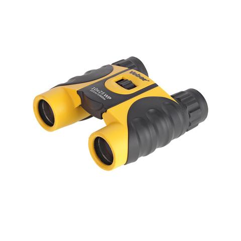 Бинокль Veber WP 10x25 черный/желтый