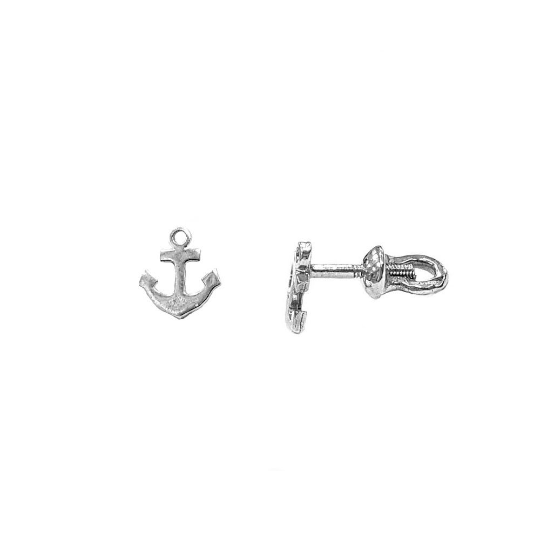 Anchors Pusset Earrings, Sterling Silver