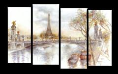 "Модульная картина ""Париж красками"""
