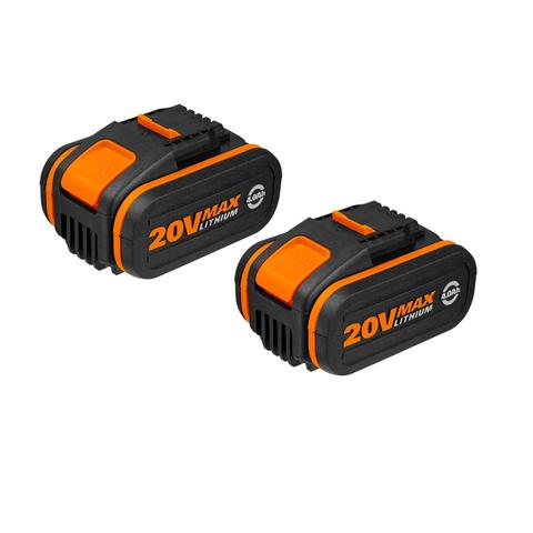 Комплект из 2х Аккумуляторов 2*20В 4.0 А/ч . WORX WA3553.2