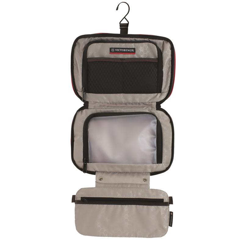 Несессер Victorinox Zip-Around Travel Kit, 3 отделения, чёрный, 28x8x18 см, 4 л