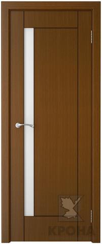 Дверь Крона Гранада, стекло матовое с рисунком, цвет орех, остекленная