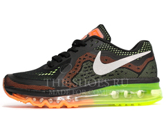 Кроссовки Женские Nike Air Max 2014 Dark Grey Green Orange