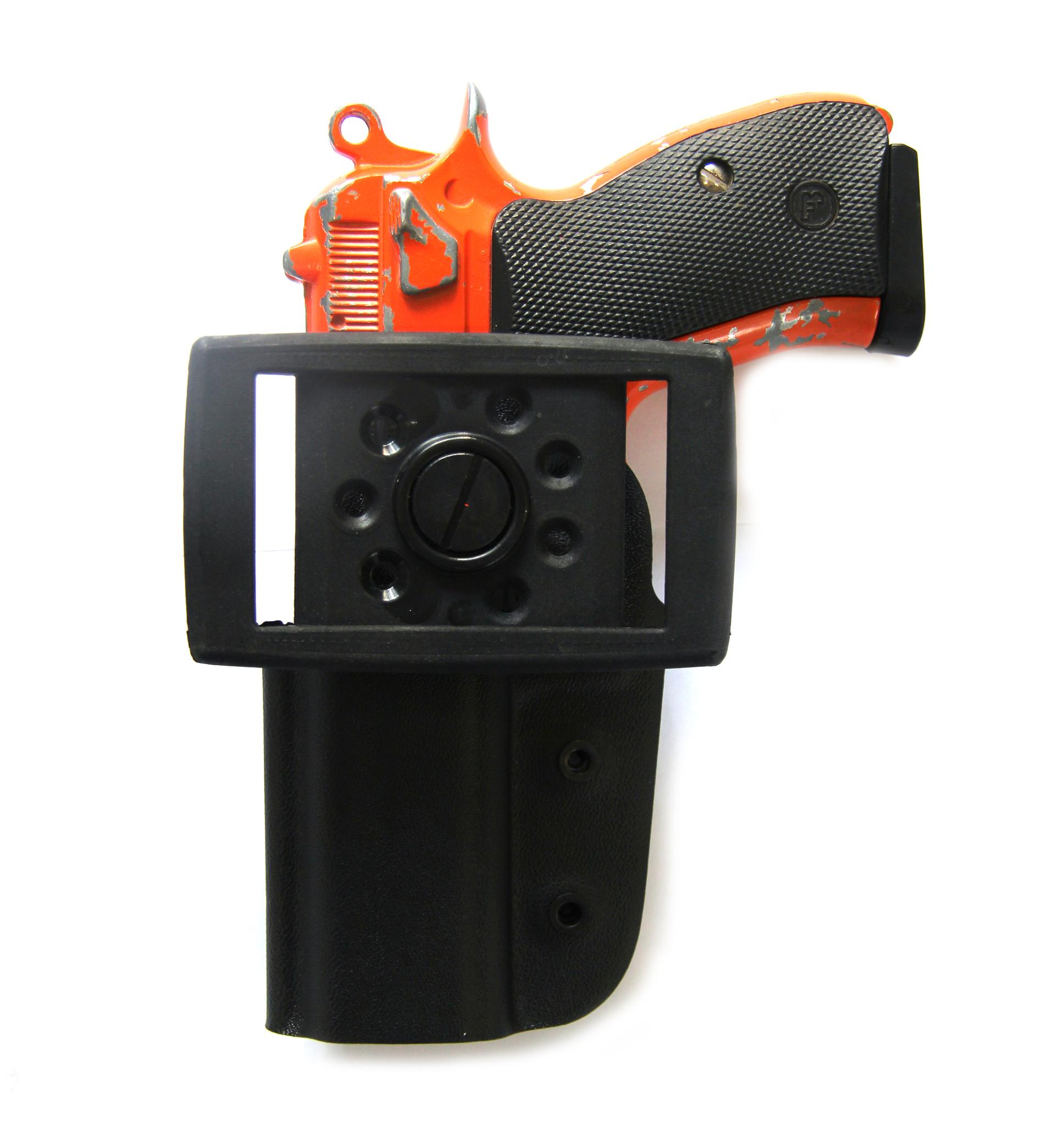 Кобура пластиковая для пистолета CZ-75 SP-01 Shadow с поясным креплением Стич Профи