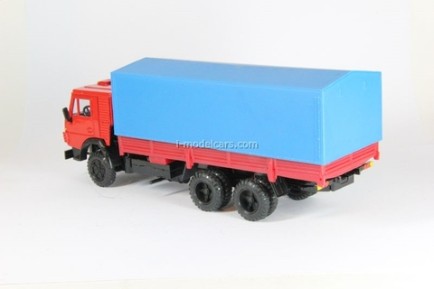 KAMAZ-53212 with awning red-blue Elecon 1:43