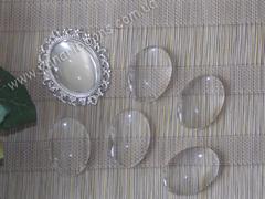 Прозрачные стекляшки 18*25 мм