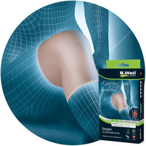 Бандаж на коленный сустав, с кристалами Биокерамики (не менее 40%) и специальной вязанной вставкой.
