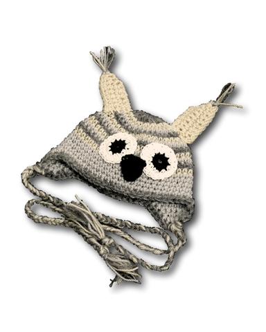 Шапка-зверюшка - Собака / серый. Одежда для кукол, пупсов и мягких игрушек.