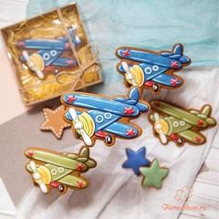 Трафарет и вырубка Самолет форма для пряника, мастики, печенья