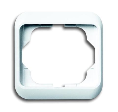 Рамка на 1 пост. Цвет Белый матовый. ABB(АББ). Alpha Nea(Альфа Ние). 1754-0-4515