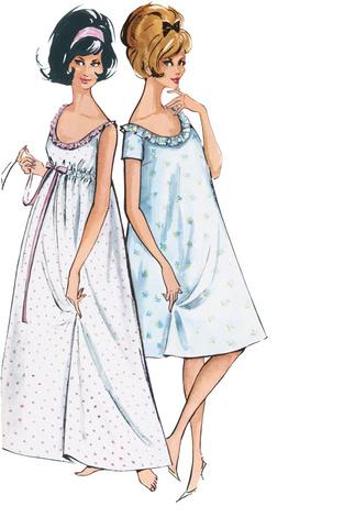 Выкройка Burda (Бурда) 7109 — Одежда для сна